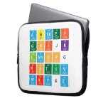 Abcdef ghijk lmnopq rstuv wxy&z  Laptop/netbook Sleeves Laptop Sleeves