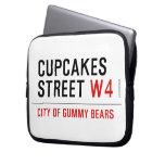 cupcakes Street  Laptop/netbook Sleeves Laptop Sleeves