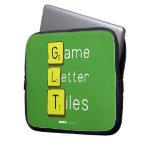 Game Letter Tiles  Laptop/netbook Sleeves Laptop Sleeves