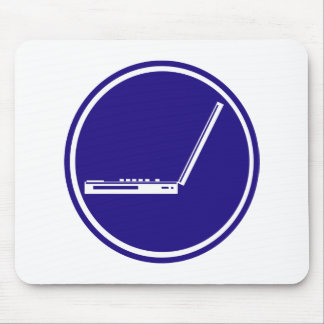 LAPTOP PARKING ROAD  SIGN MOUSE PAD