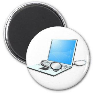 Laptop pc computer health check concept magnets