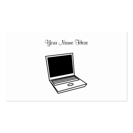 Laptop PC, Your Name Here Business Card