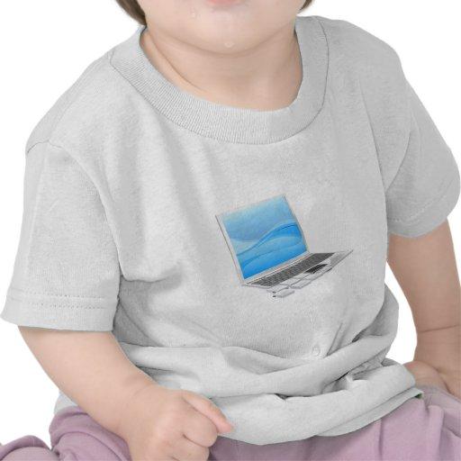 Laptop pieces concept tee shirt