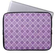 Laptop Purple Quatrefoil Pattern Computer Sleeve