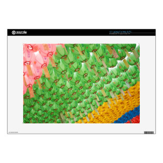 "Laptop Skin: Colorful Korean Paper Lamps Decals For 15"" Laptops"