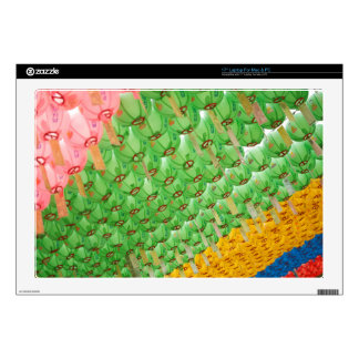 Laptop Skin: Colorful Korean Paper Lamps Skin For Laptop