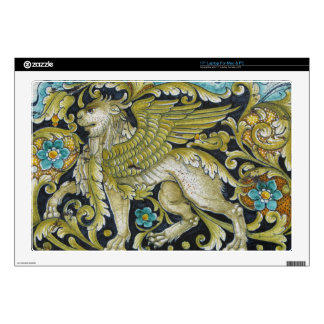 "Laptop Skin--Deruta Tile Lion 17"" Laptop Skins"