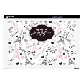Laptop Skin | Paris | Eiffel Tower | Hearts