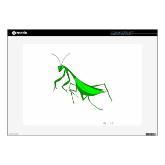 Laptop Skin with Praying Mantis Illustration