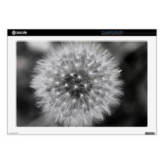 Laptop Skins - Black and White Flower Seeds