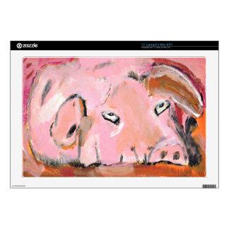 Laptop Skins - Pink Pig No. 2