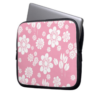 Laptop Sleeve 10 inc Pink flowers