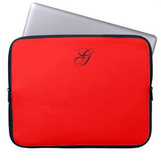 "laptop sleeve_15""-17"", #01RED W/MONOGRAM Computer Sleeve"