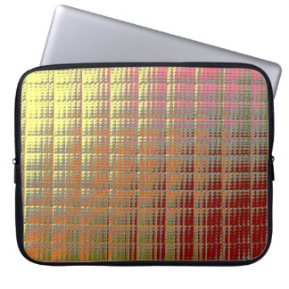 Laptop Sleeve - 15 inch - Golden Squares effect