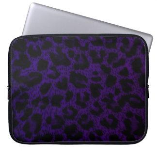 Laptop Sleeve 15 inch Purple Leopard Print