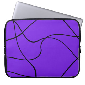 """Laptop sleeve - """"Abstract lines"""" - Lavender"""