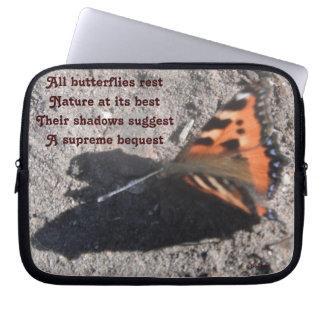 Laptop Sleeve All Butterflies Rest By Ladee Basset