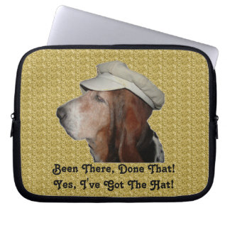 Laptop Sleeve Basset Hound Been There, Done That