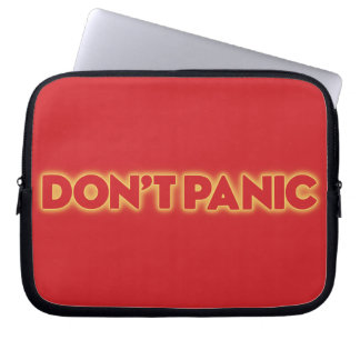 "Laptop Sleeve ""Don´t Panic"""