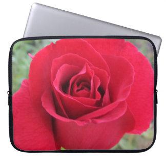 "Laptop Sleeve--""Drop Dead Red"" Rose-Horizontal Computer Sleeves"