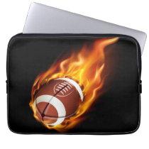 Laptop Sleeve-Flaming Football Computer Sleeve