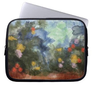 Laptop Sleeve, Flowered Path Watercolor Laptop Sleeve