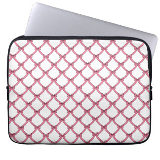 """laptop sleeve for 13"""" laptop, #241-1, pink bows"""