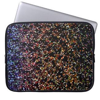 LapTop Sleeve Glitter Graphic Background