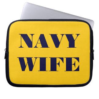 Laptop Sleeve Navy Wife