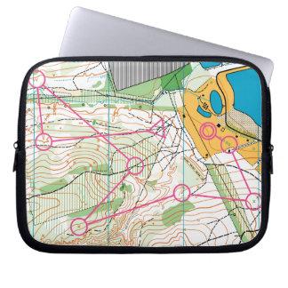 Laptop Sleeve - orienteering map