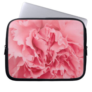 Laptop Sleeve Pink Carnation Close Up