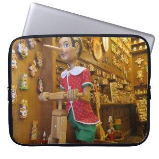 Laptop Sleeve--Pinocchio Doll Laptop Sleeve