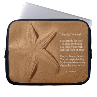 Laptop Sleeve Poem Star In The Sand Ladee Basset