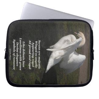Laptop Sleeve Poem Swans Are Majestic Ladee Basset