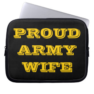 Laptop Sleeve Proud Army Wife