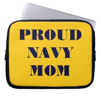 Laptop Sleeve Proud Navy Mom