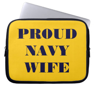 Laptop Sleeve Proud Navy Wife