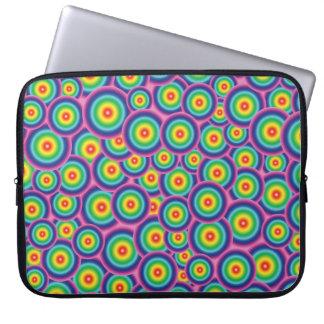 Laptop sleeve Psychedelic rainbow bubbles