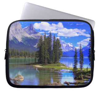 Laptop sleeve - Spirit Island, Canadian Rockies
