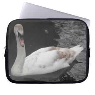 Laptop Sleeve Swan Swimming