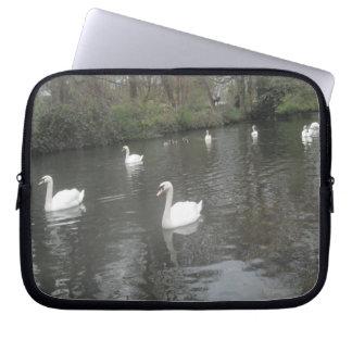 Laptop Sleeve Swans Swimming