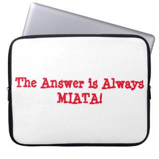 "Laptop Sleeve: The Answer is Always Miata!"" Laptop Sleeve"