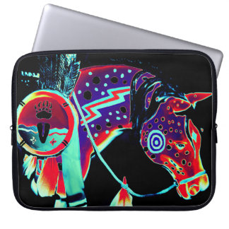 """Laptop Sleeve with """"Painted Pony"""" Design"""