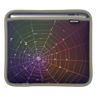 Laptop sleeve with spider line and water drops
