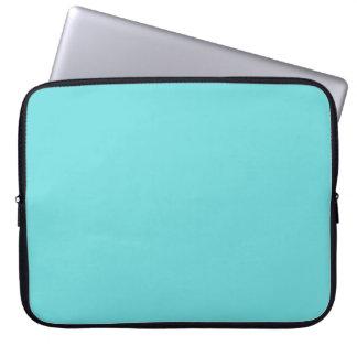 laptop sleeves_#133 aqua solid laptop sleeve