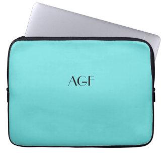 "laptop sleeves monogram for 13"" laptop, #133 aqua"