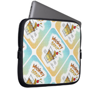 LAPTOP SLEEVES - WHISKEY SOUR RECIPE COCKTAIL ART