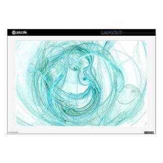 "Laptop/Tablet Skin: Abstract Fractal Light, Aqua 17"" Laptop Decals"
