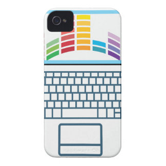 Laptop Top View vector graphic iPhone 4 Case-Mate Case