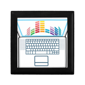 Laptop Top View vector graphic Keepsake Box